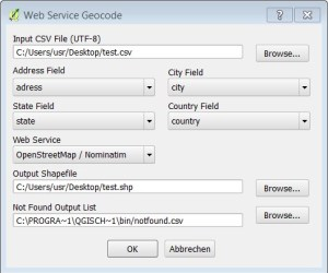 Picture 2: MMQGIS Geocode Options