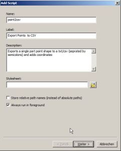 Add Script Dialog