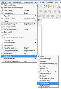 Aktivierung der Werkzeugkiste unter QGIS 2.8.2 - Wien