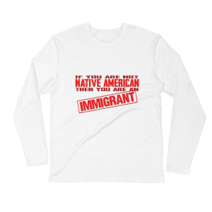 Native American & Immigrant Long Sleeve Fitted Crew – Next Level 3601