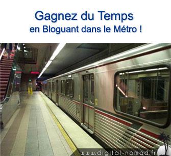 Bloguer dans le métro