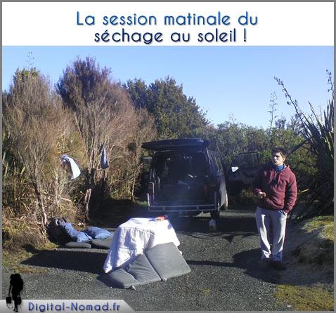 Séchage du Van