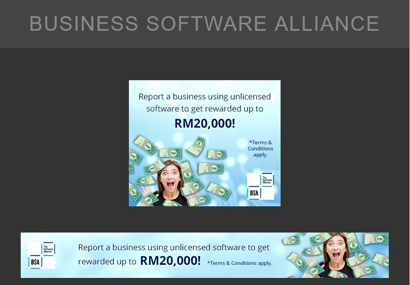 A set of GDN Display Banner Ads for Business Software Alliance - Digital Advertising