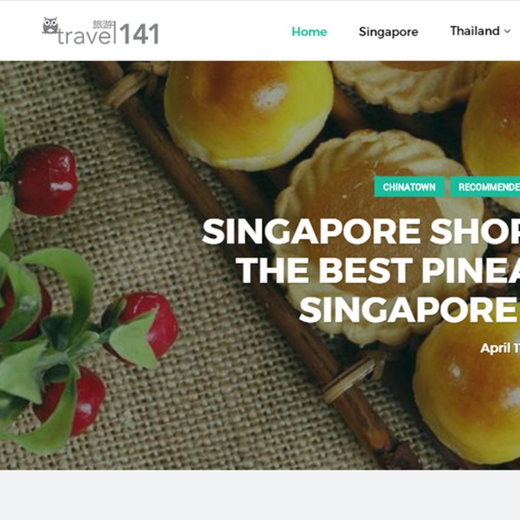 Screen grab of the Travel141 Website Blogpage - Web Design & Development