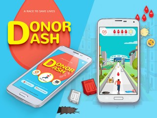 Screen grab of the Donor Dash App for Singapore Red Cross - App Development