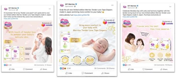 Định dạng quảng cáo hình ảnh trên newfeed facebook của Kao Meries