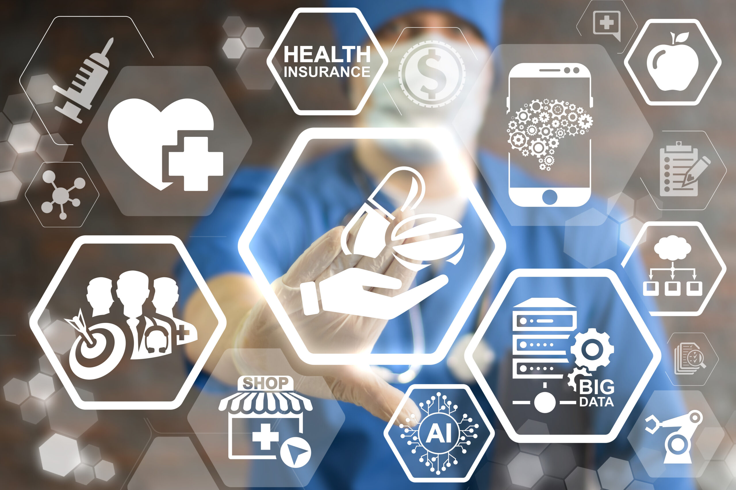 Pharmacy,,Medicine,And,Healthcare,Concept,-,Doctor,Presses,Icon,Hand