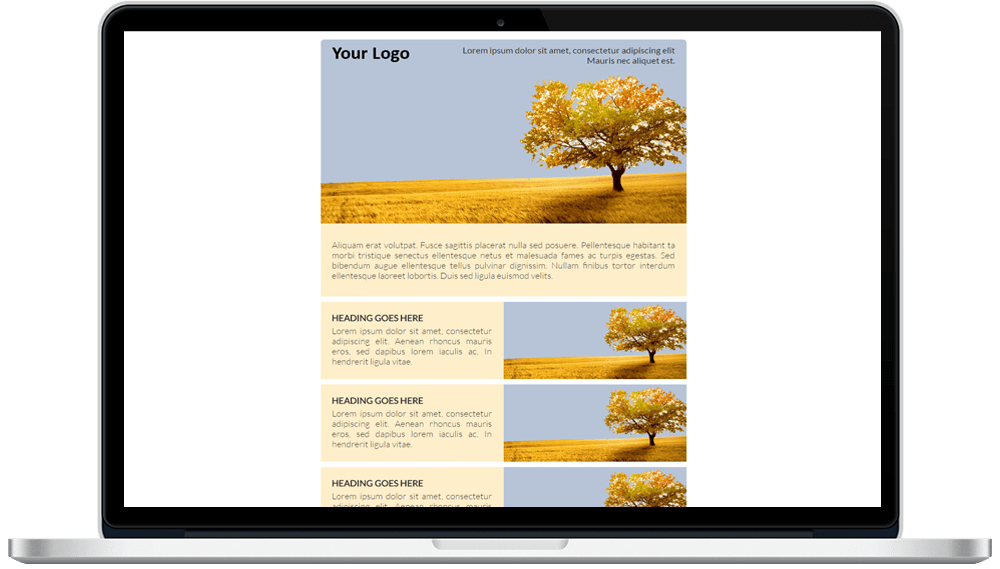 Round Corner Responsive HTML Mailer Template