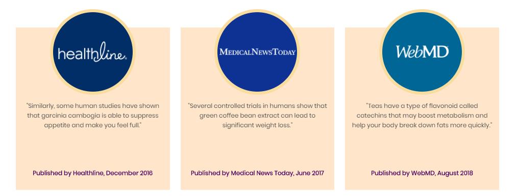 Slendarol Ingredients Featured in Medical Media