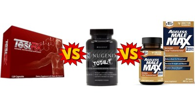 TestRx Vs Nugenix Vs Ageless Male