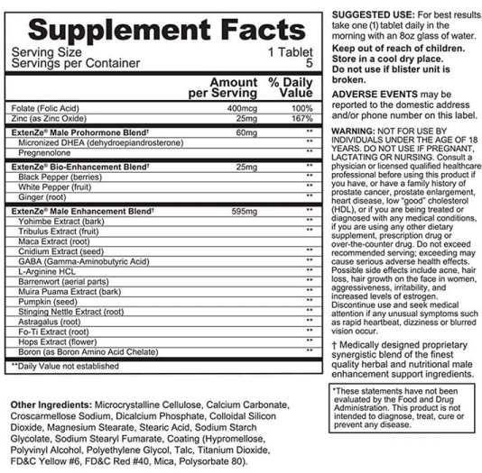 Extenze Ingredients