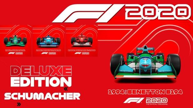 F1 2020 announced and with a Schumacher Deluxe Edition, Digital Apex Modding