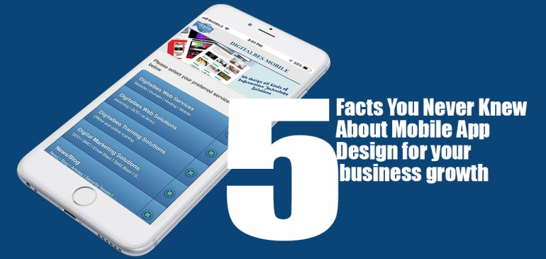Five Facts You Never Knew About Mobile App Design