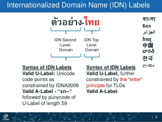 The risks associated with global Internationalized Domain Names