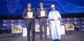 Kigali, Rwanda. 15 mai 2019. Le président rwandais Paul Kagamé et son homologue kényan, Uhuru Kenyatta