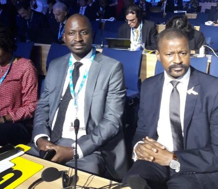 Le DG de l'ARPT Antigou Chérif et le ministre en charge du Numérique de la Guinée  Moustapha Mamy Diaby