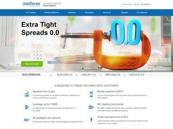 JustForex Forex Broker - Reviews and Information