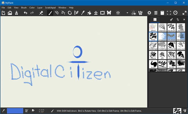 Microsoft Paint alternative: MyPaint
