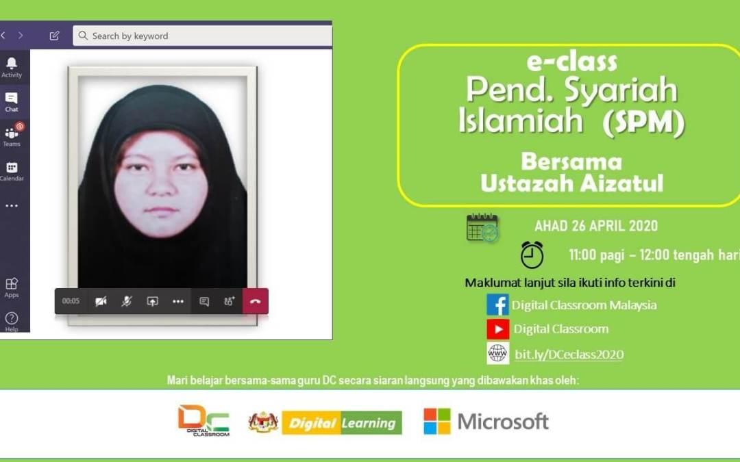 Pendidikan Syariah Islamiah (SPM) bersama-sama Ustazah Aizatul