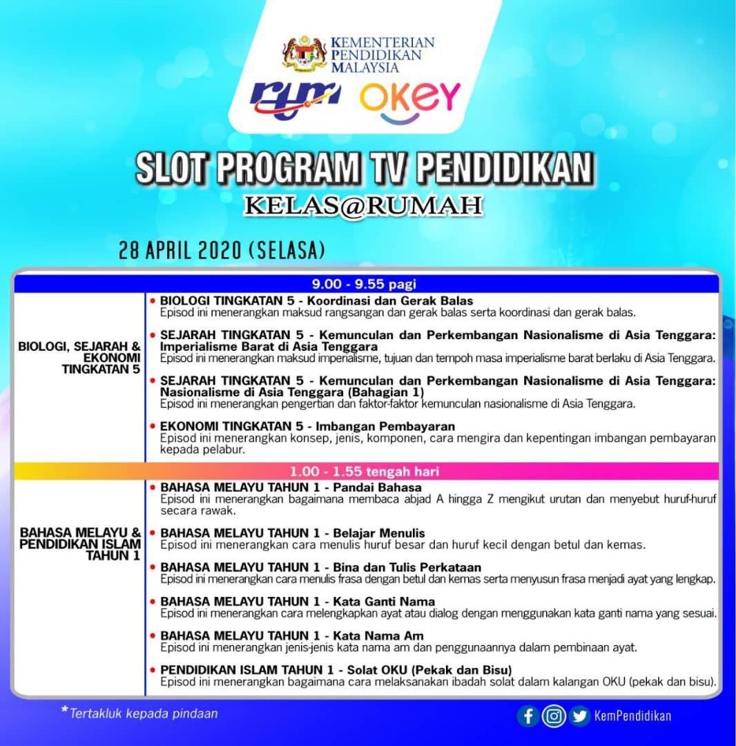 Rancangan TV Pendidikan 28hb April 2020