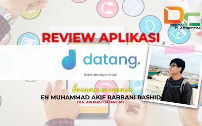 Webinar : Review Aplikasi Datang.my