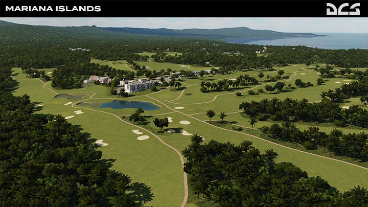 Mariana Islands - Golf course on the East side of the island