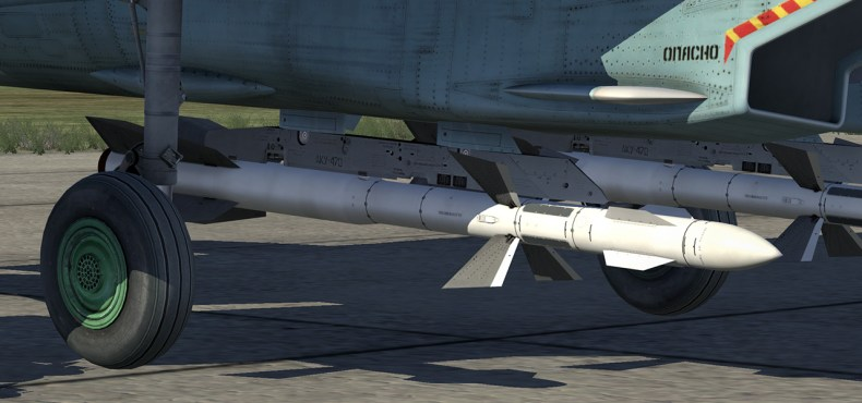 Up to 6 x R-27ER SARH air-to-air missiles extended range