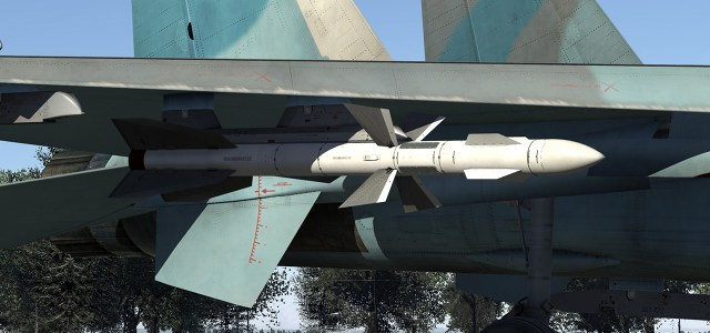 Up to 6 x R-27R SARH air-to-air missiles
