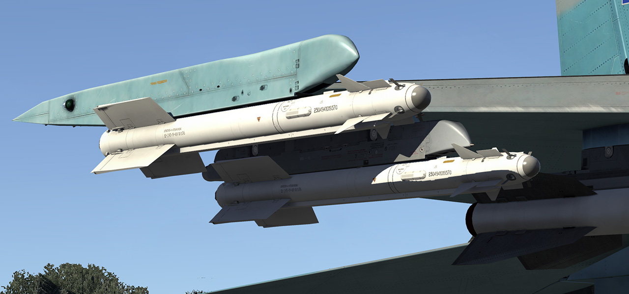 Up to 6 x R-73 IR air-to-air missiles