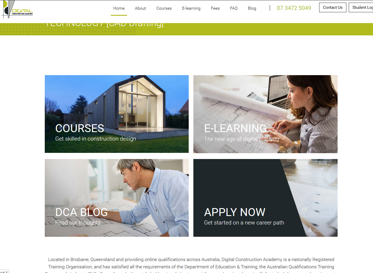 Digital Construction Academy new website