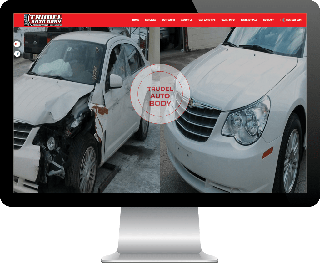 Trudel Autobody Prince Albert / Website Design Portfolio