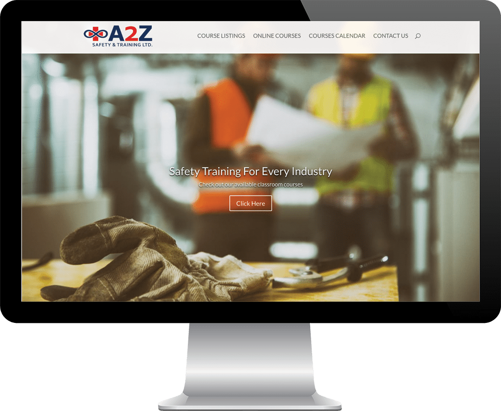 A2Z Safety and Training Prince Albert / Website Design Portfolio