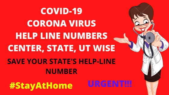 Corona Virus Helpline numbers