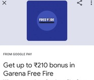 Gareena Free Fire on Google Pay