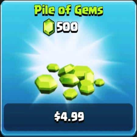Clash of Clans Pile of Gems