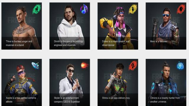 Free Fire All Characters