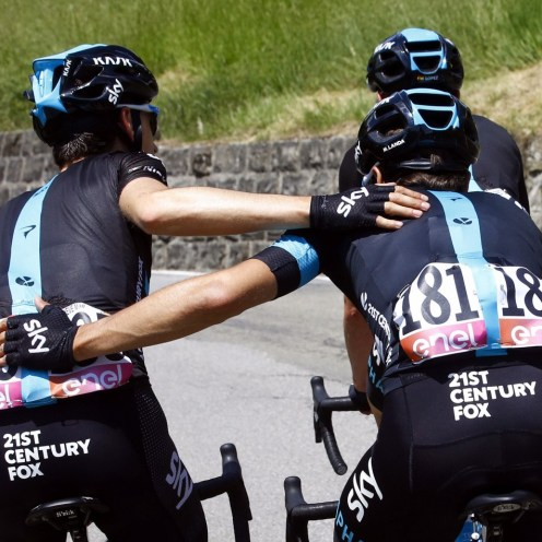 Sestola - Italy - wielrennen - cycling - radsport - cyclisme - Mikel Landa (Team Sky) -Nieve Ituralde Mikel (Spain / Team Sky) pictured during stage 10 of the 99th Giro d'Italia 2016 from Campi Bisenzio to Sestola 219 km - foto Miwa IIjima/Cor Vos © 2016