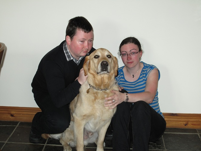 A picture of our family. Emma, Freddie and me.