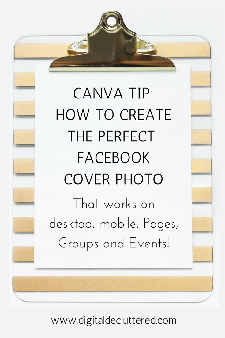How to create the perfect Facebook cover for Pages, Groups and Events using Canva