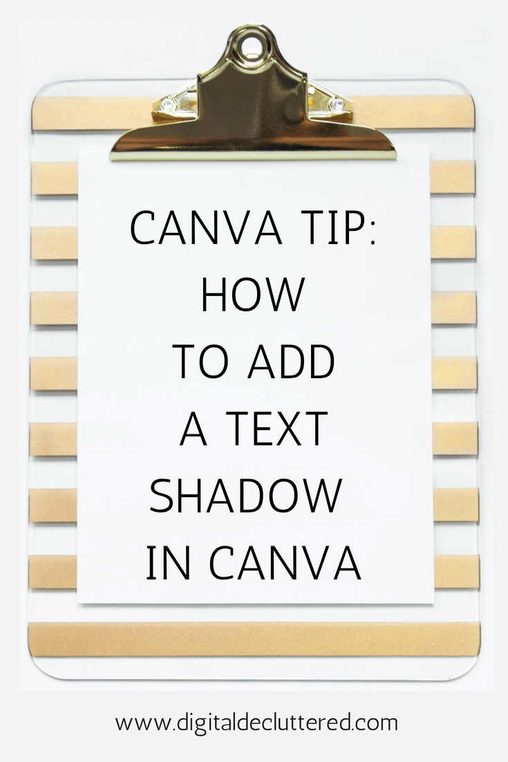 Canva tip: Step by step - how to add text shadow in Canva