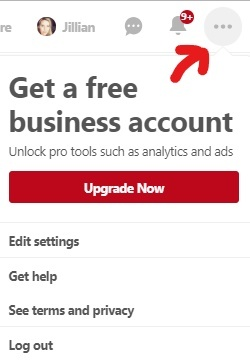 Convert to a Business Account inside your Pinterest Account