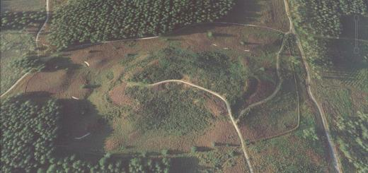 Woolsbarrow Camp Hillfort, Dorset.