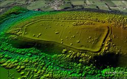 Dolebury Camp LiDAR. © Mendip AONB & English Heritage. Reproduced with kind permission.