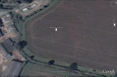 'Sunburst' timber circle pits, visible in Google Earth.