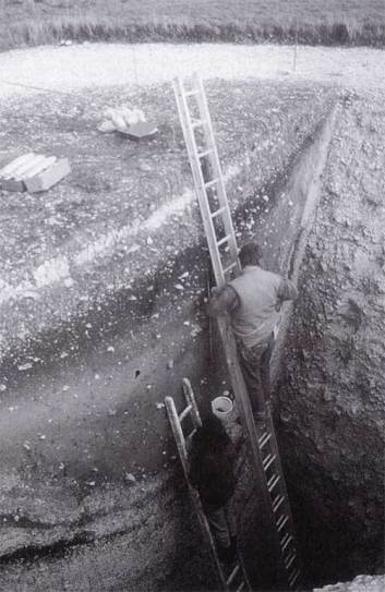 The Fir Tree Shaft during excavation.