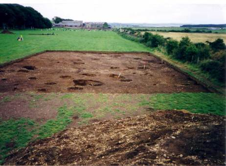 Image 7 - Dunragit Henge Complex excavation, 1999, end of season. Image copyright Anne Teather.