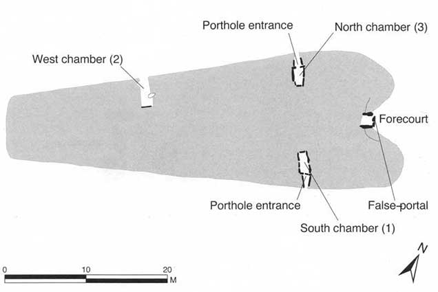 Windmill Tump Long Barrow plan. Image by Vanessa Constant.