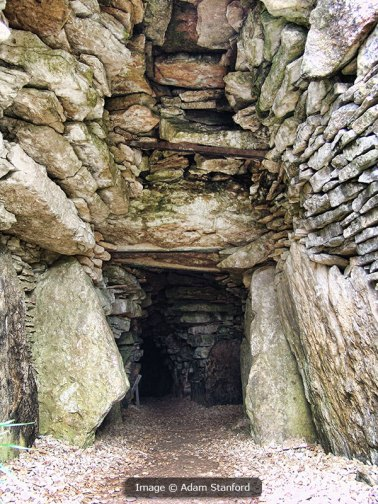 Stoney Littleton Long Barrow interior. Image © Adam Stanford.