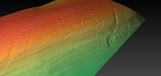 Goosehill hillfort digital terrain model