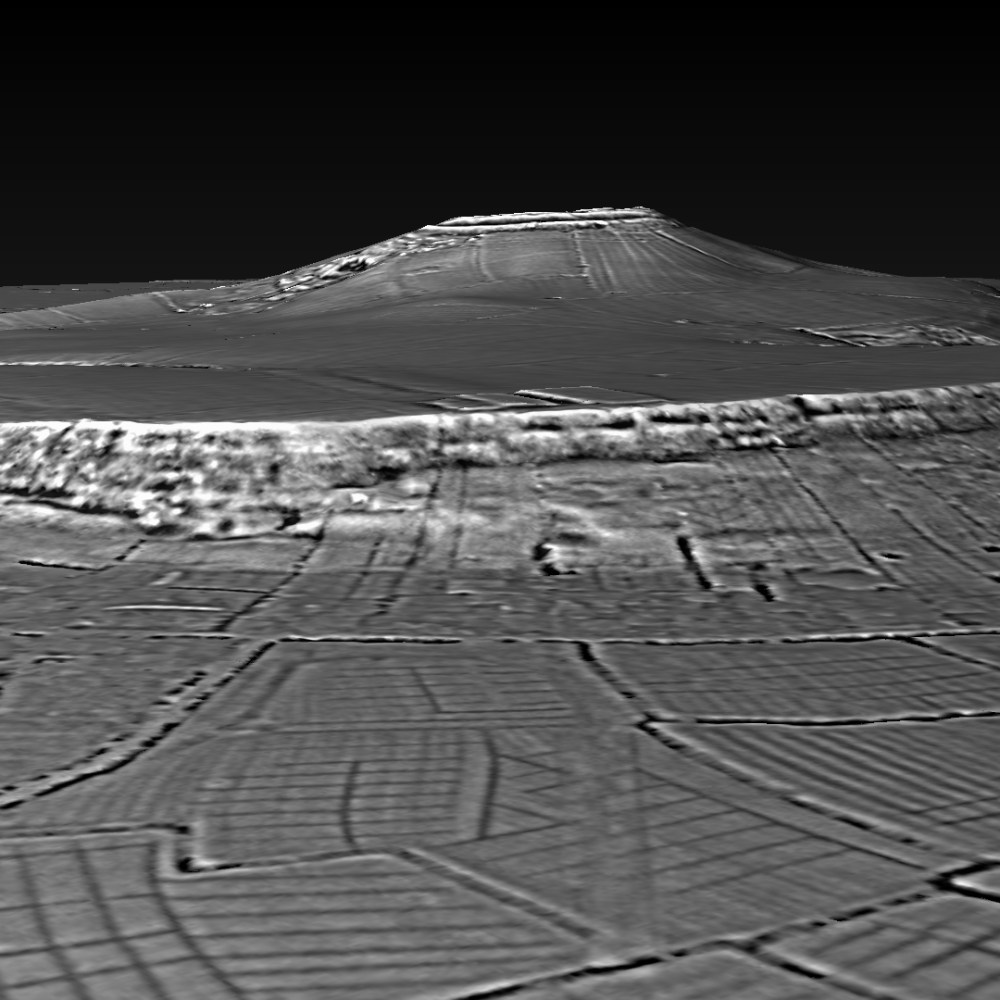 Brent Knoll Hillfort - DTM generated in planlauf/TERRAIN